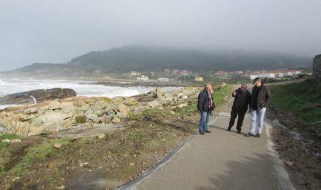 O concello da Guarda remata as obras de mellora do tramo pendente do sendeiro azul