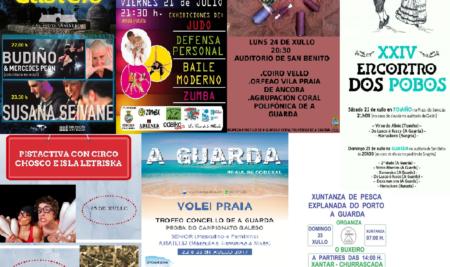 Música, deporte e espectáculos enchen A Guarda dende o venres ata o 25 de xullo, Día de Galicia