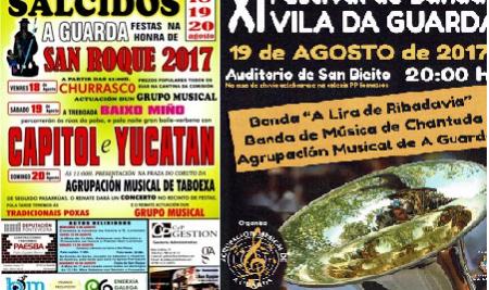 XI Festival de Bandas Vila da Guarda e Festa de San Roque: a música como protagonista na fin de semana