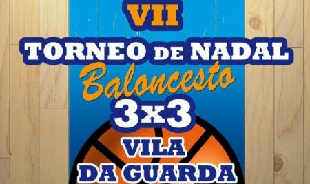 O VII Torneo de Nadal 3×3 de baloncesto «Vila da Guarda» admitirá inscricións ata o 4 de xaneiro