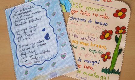 O CEIP As Solanas celebra o Día Mundial da Poesía e dos Bosques con «poemas para levar»