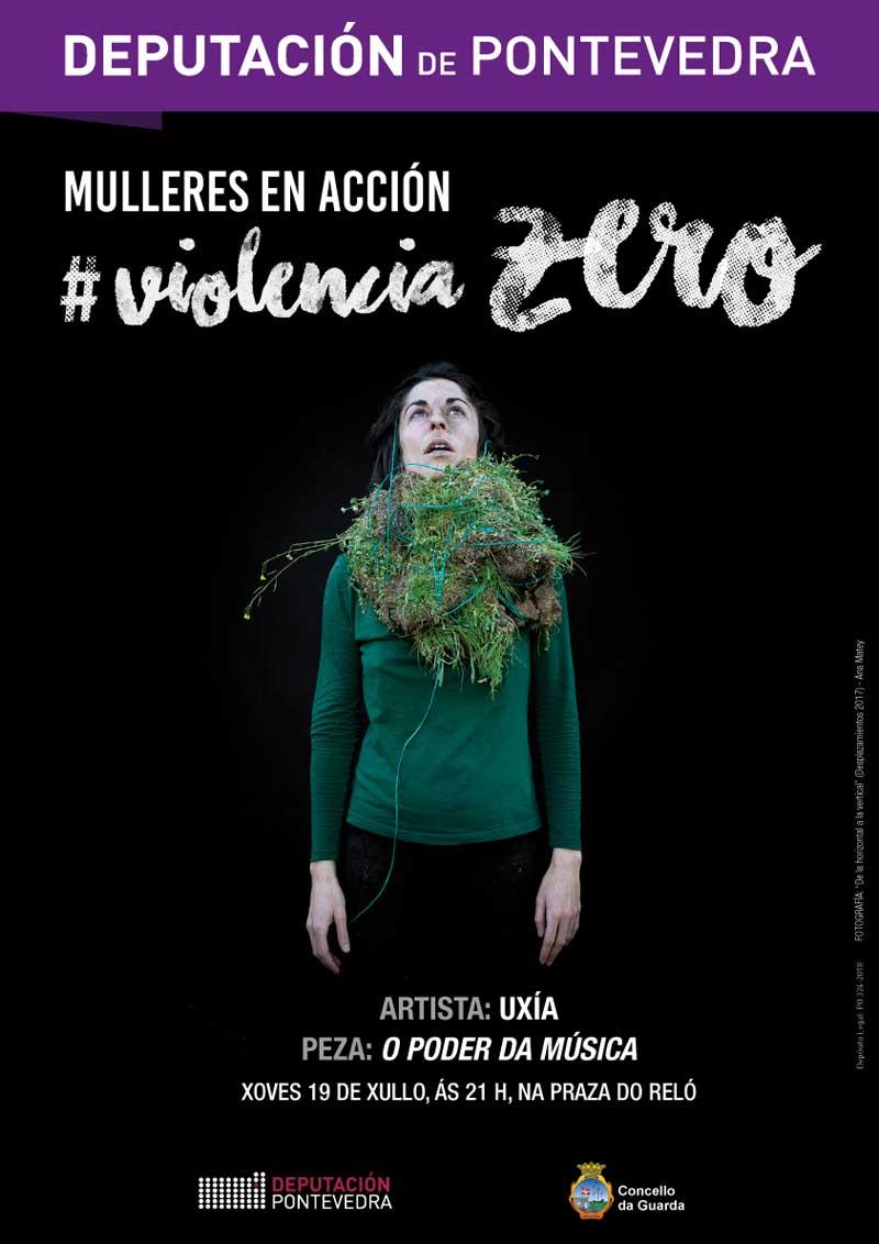 O xoves día 19 de xullo ás 21:00h a Praza do Reló da Guarda será o escenario da actuación da cantante e artista Uxía, unha das maiores embaixadoras da música e da poesía galegas.