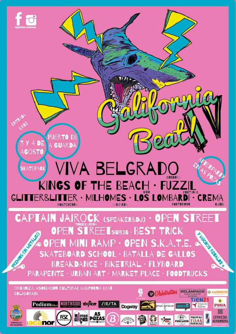 A IV edición do Galifornia Beat chega ao Porto da Guarda esta fin de semana