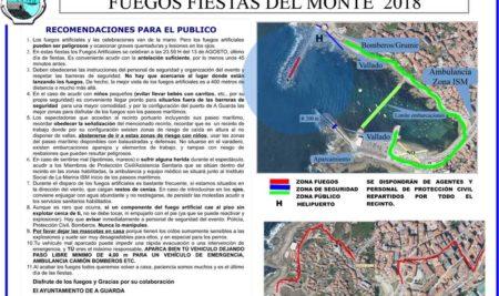 Información para os usuarios do porto e o público no espectáculo pirotécnico das Festas do Monte