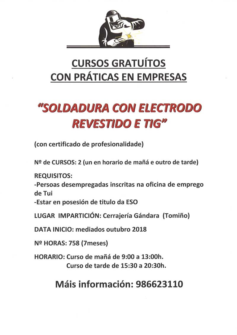 Máis información no teléfono: 986 62 3110 (Cerrajería Gándara - Tomiño)