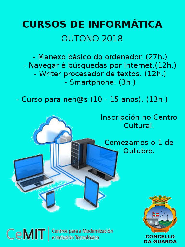 A Aula CeMIT da Guarda organiza novos cursos de informática para todas as idades este outono, e ademais de xeito gratuíto.