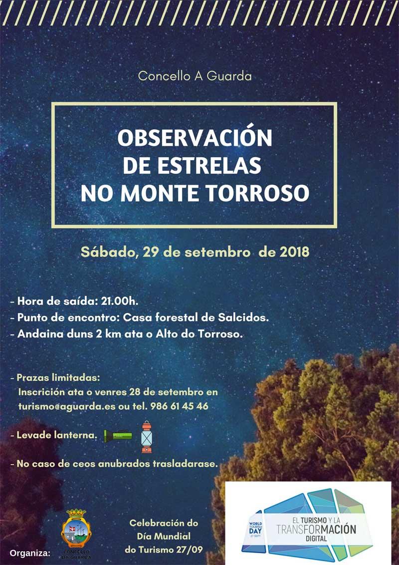 Para participar nesta actividade é preciso realizar unha inscrición previa no enderezo electrónico turismo@aguarda.es ou chamando ao 986614546, data límite ata este venres 28 de setembro.