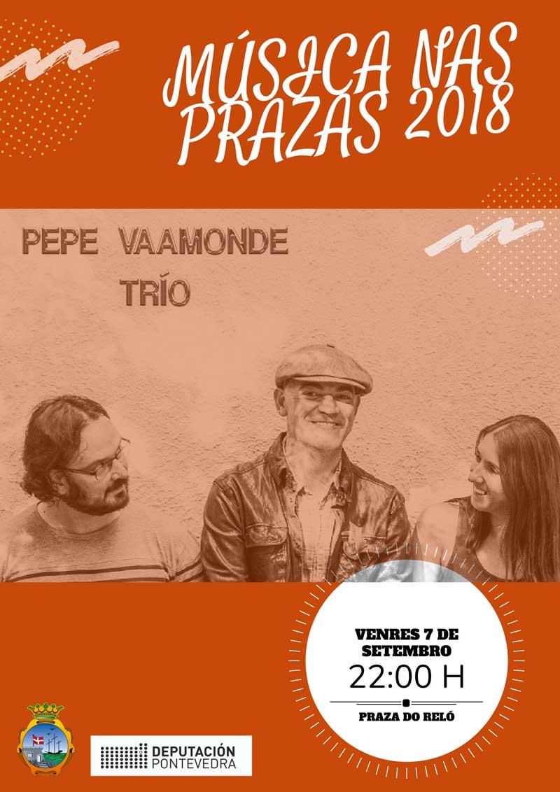A Praza do Reló pecha este venres o Música nas Prazas 2018 coa actuación de Pepe Vaamonde Trío