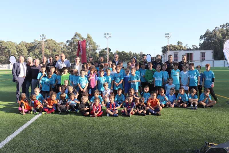 O martes día 9 de outubro de 2018 o Estadio Municipal da Sangriña acolleu o inicio das DEPORTE Escolas, na modalidade de Fútbol, promovidas dende a Deputación de Pontevedra.