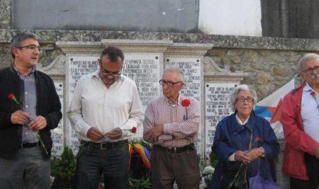 Acto de homenaxe aos asasinados no Campo de Concentración de Camposancos