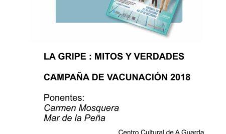 Charla sobre «Vacina da gripe, mitos e verdades» o 19 de outubro no Centro Cultural da Guarda