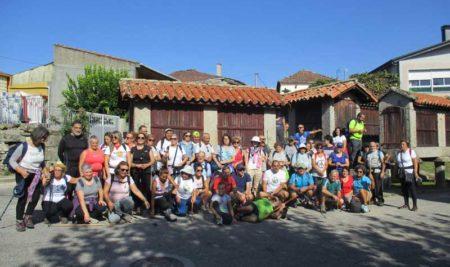 Veciños da Guarda e Caminha participaron nunha andaina polo Monumento natural Pena Corneira