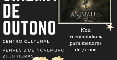 Cinema de Outono este venres na Guarda coa proxección de «Animales Fantásticos»