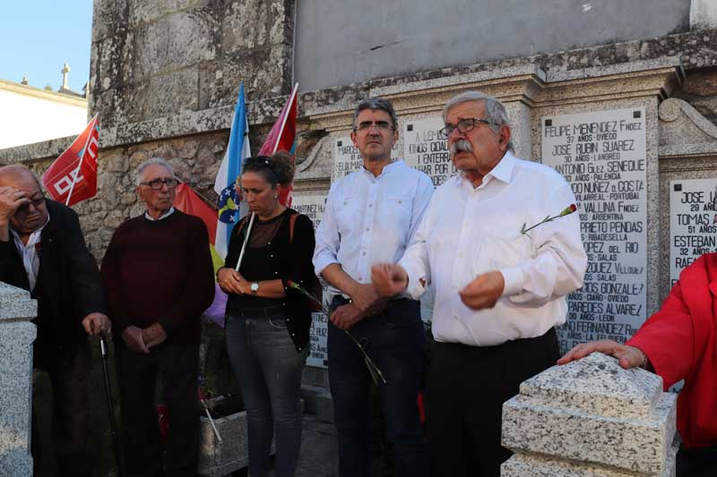 O xoves 18 de outubro, seguindo a tradición de todos os anos, o sindicato das Comisións Obreiras, xunto co Concello da Guarda, realizou unha homenaxe aos asasinados no campo de concentración de Camposancos durante a guerra civil.