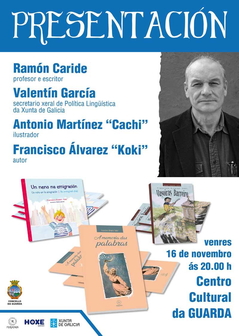 Neste acto presentará os libros «Un neno na Emigración», «A Memoria das Palabras» e «Vasoiras Barreiro», editados por Edicións Fervenza de Silleda.