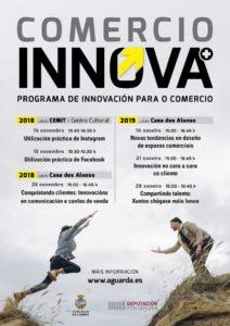 A Guarda convida a empresarios/as e comerciantes a participar na programación de «Comercio Innova Plus»