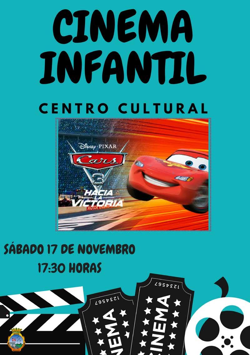 """O Centro Cultural da Guarda acolle este sábado ás 17:30h unha nova sesión de cinema infantil coa proxección da película """"Cars""""."""