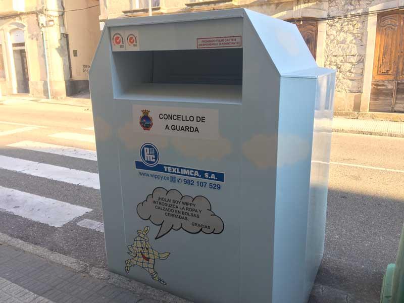 Neste senso instaláronse 5 contedores, emprazados no aparcamento da Rúa Malteses do Porto da Guarda(O Rejiño), na Rúa Donantes de Sangue, na Rúa Puerto Rico, na Rúa Manuel Álvarez e na Rúa Julia Vaquero.