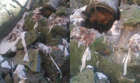 As toalliñas e bastoncillos provocan atascos na rede de saneamento municipal