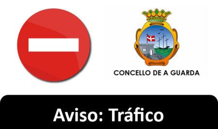 A Alerta Vermella obriga a prohibir a circulación de vehículos polo paseo marítimo da Guarda