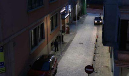 Mellora da iluminación da Rúa Pontevedra na Guarda