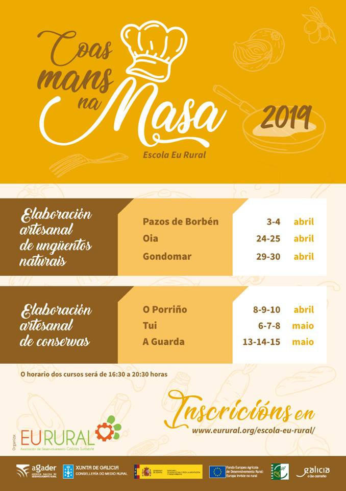 As xornadas son de balde e a inscrición farase a través da web www.eurural.org, dirixíndose ao apartado denominado Escola.