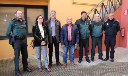 Maica Larriba repasa coa Garda Civil e o concello de A Guarda o operativo de seguridade cidadán