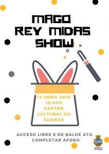 O show terá comezo ás 18:00h da tarde no Salón de Actos do Centro Cultural da Guarda onde os asistentes gozarán espectáculo para nenos e adultos espectáculo que no deixará a ninguén indiferente.