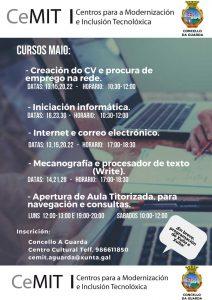 A Aula CeMIT da Guarda organiza novos cursos de informática para todas as idades para o mes de maio.