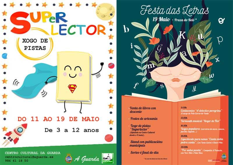 A Guarda prepara unha xornada para a posta en valor das Letras Galegas coa iniciativa «Festa das Letras», que terá lugar o vindeiro domingo día 19 de maio na Praza do Reló(en caso de choiva na Casa dos Alonsos».