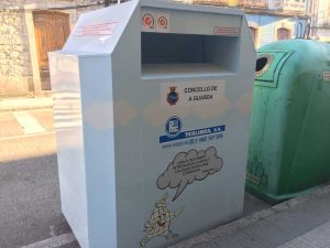 Neste senso instaláronse xa 6 contedores, emprazados no aparcamento da Rúa Malteses do Porto da Guarda(O Rejiño), na Rúa Donantes de Sangue, na Rúa Puerto Rico, na Rúa Manuel Álvarez, na Rúa Julia Vaquero e outro máis que se emprazará proximamente na Gándara.