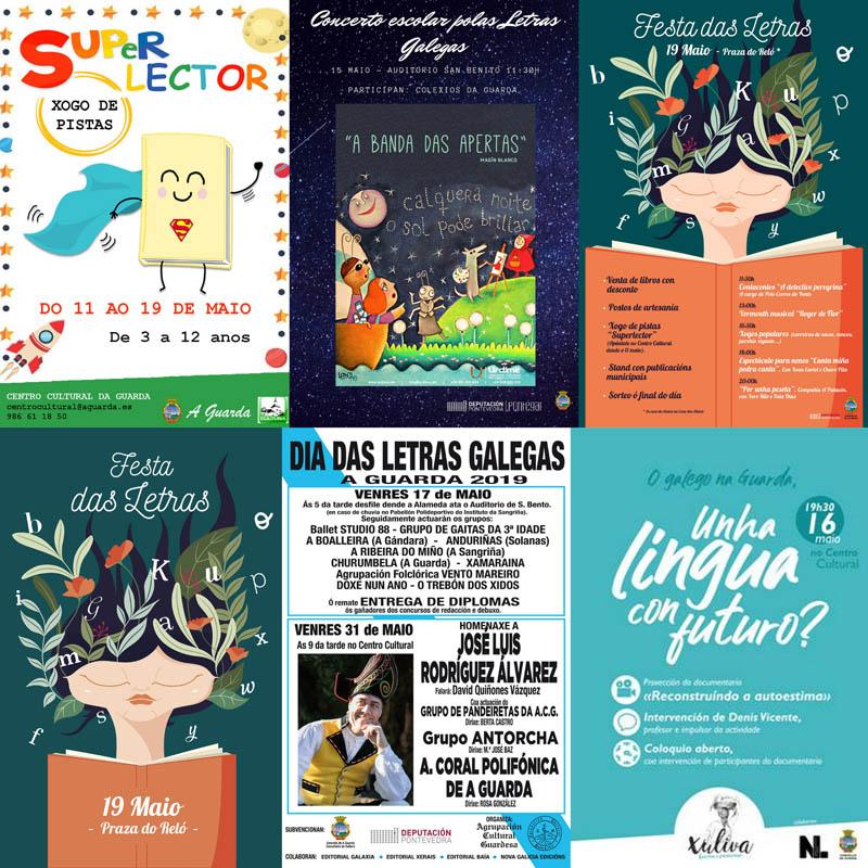 O mércores día 15 de maio arrancan na Guarda as actividades programadas para a celebración do Día das Letras Galegas