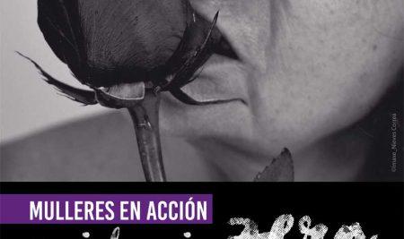 Mulleres en Acción – Violencia Zero trae á Guarda a peza «Rosa» de Nuria Sotelo