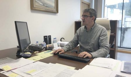 Antonio Lomba solicita novamente a mellora na estrada PO-352 de circunvalación ao Monte Trega