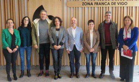 Reunión de trabajo entre el Delegado de Zona Franca y los alcaldes del Baixo Miño