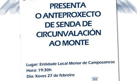 O Concello da Guarda presenta este xoves o Anteproxecto para a Senda de circunvalación ao Monte Santa Trega