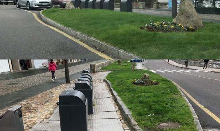 A Guarda mellora o entorno dos contedores soterrados do Porto