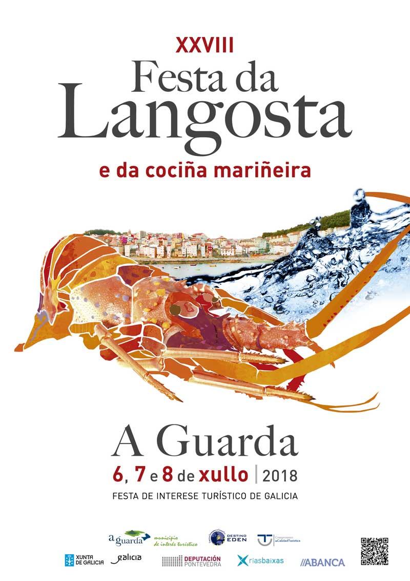 O Concello da Guarda acolle dende este venres día 6 de xullo a XXVIII edición da Festa da Langosta e da Cociña Mariñeira, Festa de Interese Turístico de Galicia.