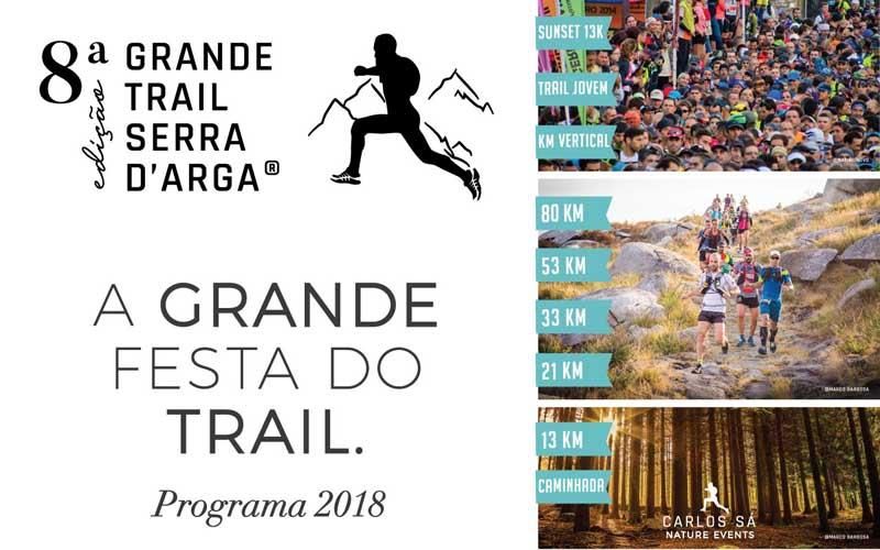Esta fin de semana celébrase o evento deportivo Grande Trail Serra D´Arga 2018, unha proba que este ano cruza a fronteira dende Caminha para desenvolver parte do seu programa no Concello da Guarda e no Monte de Santa Trega.