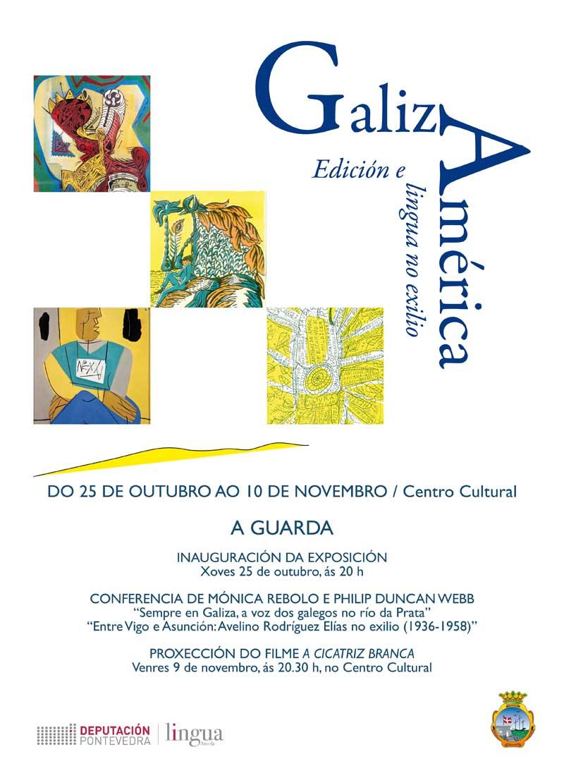 A inauguración terá lugar o xoves día 25 de outubro ás 20:00h na Sala de Exposicións do Centro Cultural da Guarda e manterase ata o 10 de novembro.