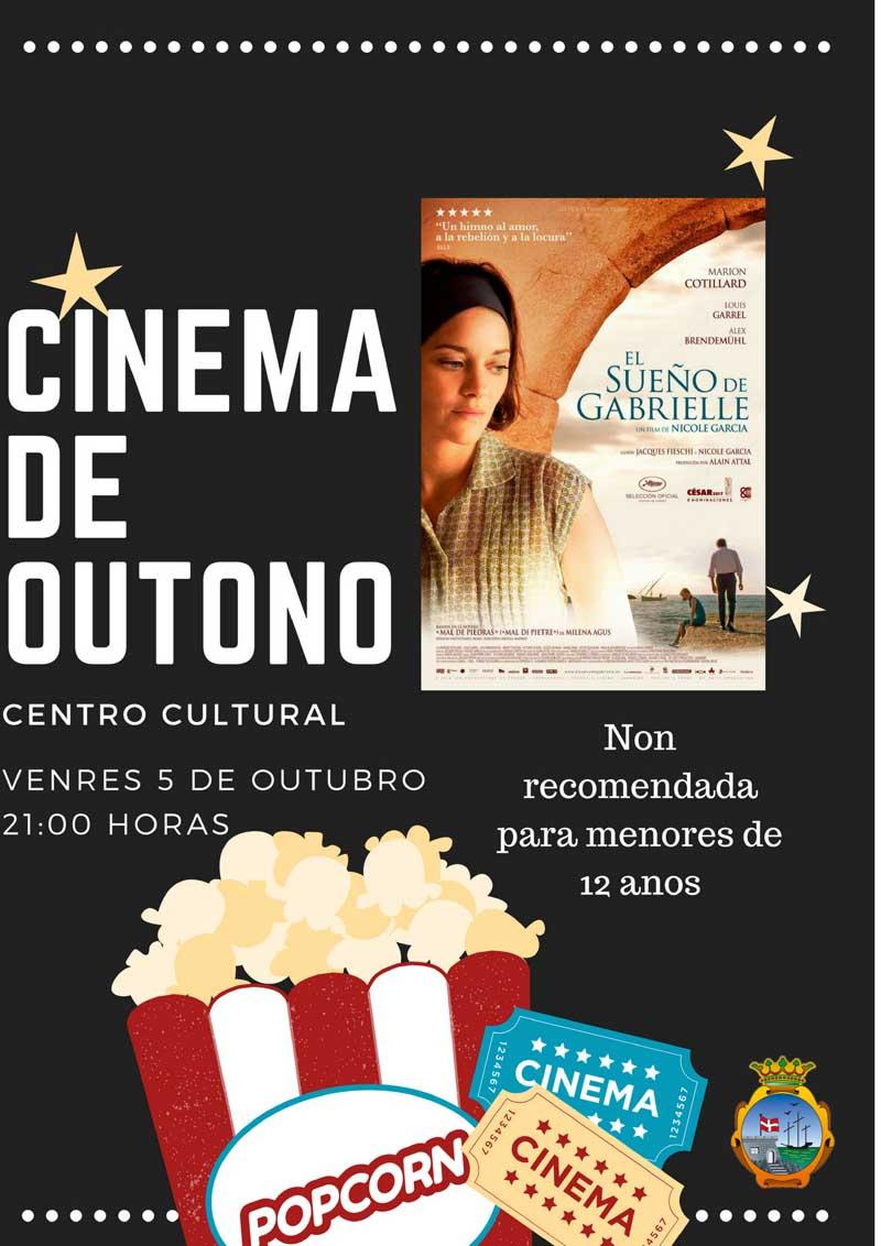 Este venres día 5 de outubro comeza na Guarda o ciclo «Cinema de Outono» coa proxección da película «El sueño de Gabrielle», non recomendada para menores de 12 anos.