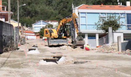 As obras de urbanización da Subida a San Amaro en Camposancos avanzan a bo ritmo