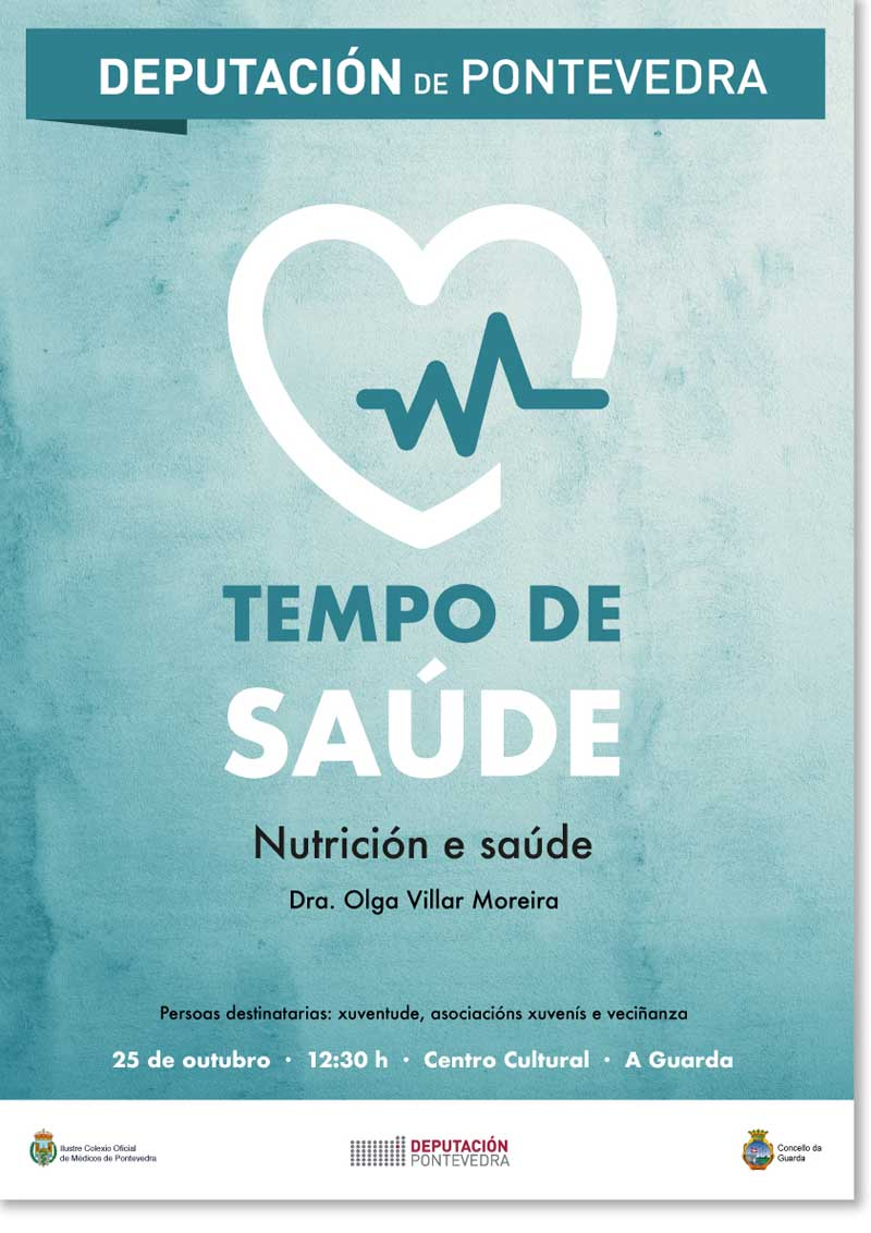 NP 22102018 A Guarda acolle este xoves a Charla «Tempo de Saúde» coa Dra. Olga Villar