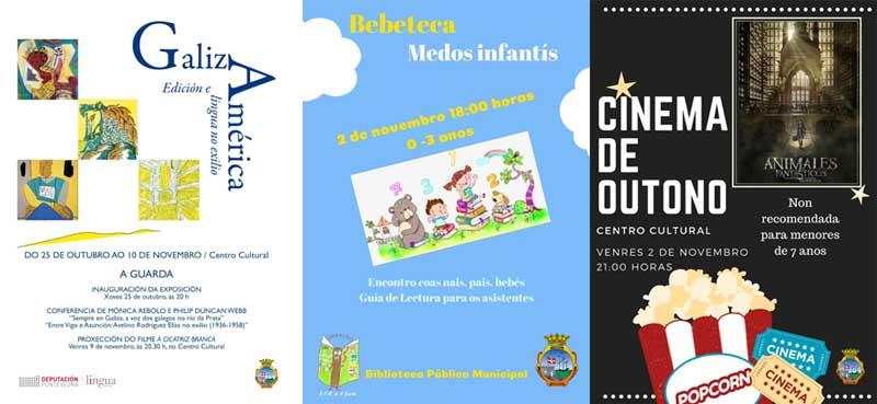 """O Concello da Guarda programa para esta fin de semana varias actividades para todos os públicos coa proxección da película """"Animales Fantásticos"""", a Exposición """"GalizAmérica"""" e a """"Bebeteca"""" na Biblioteca Municipal."""