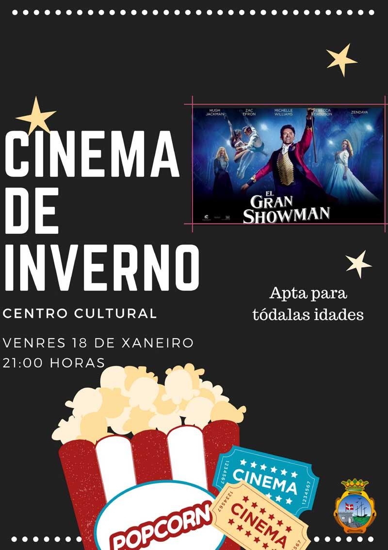"""O Centro Cultural da Guarda acolle este venres ás 21:00h unha nova sesión do cinema de inverno coa proxección da película """"O gran showman"""", apta para todos os públicos."""