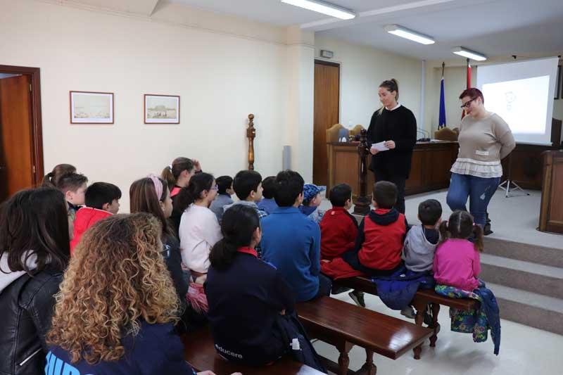 Este venres día 15 de marzo de 2019 o Concello da Guarda acolleu a presentación do Proxecto «Memi, una gota de aire», contando con representantes das bibliotecas escolares da vila.