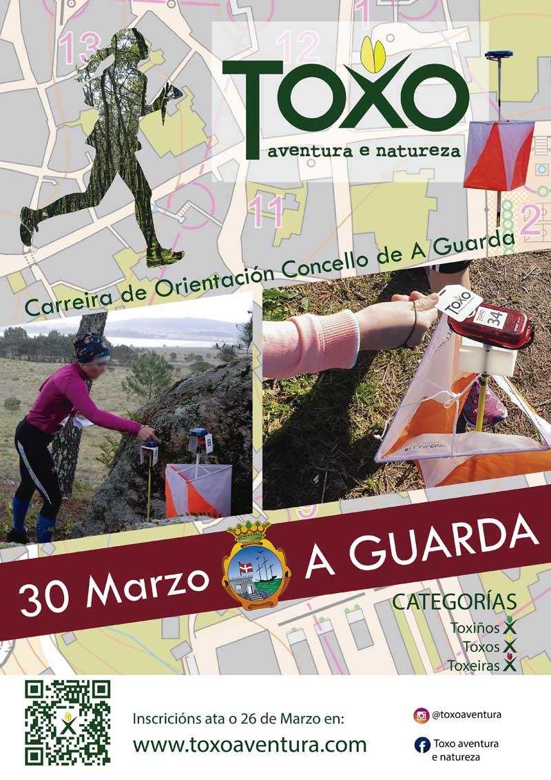 O Concello da Guarda será escenario o vindeiro sábado día 30 de marzo da primeira Carreira de Orientación Concello da Guarda, un evento que terá lugar dende as 10:30h da mañá por diferentes espazos naturais do noso municipio.