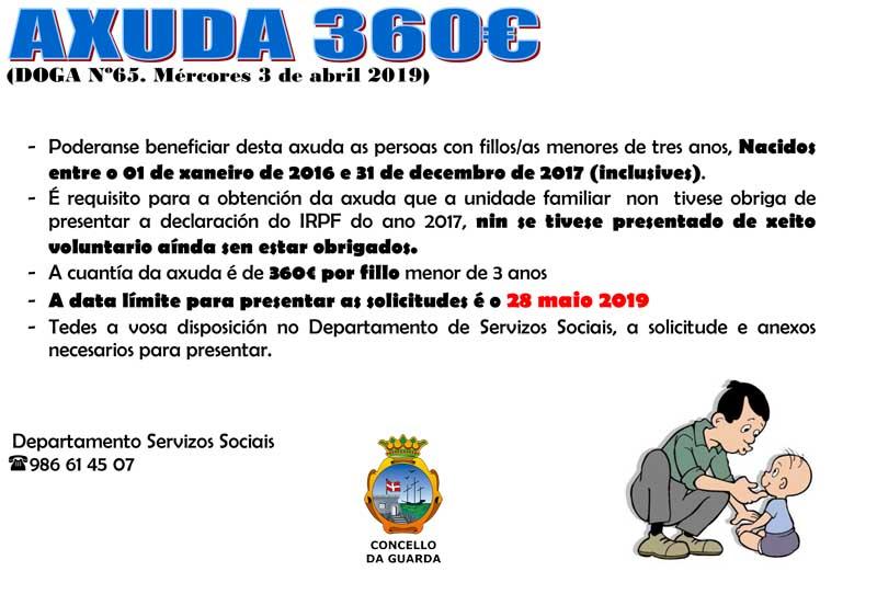 Para máis información e tramitación da axuda dirixirse ó Departamento de Servizos Sociais do Concello da Guarda. O horario de atención é de 9:00 a 13:00h, os luns, mércores e xoves.