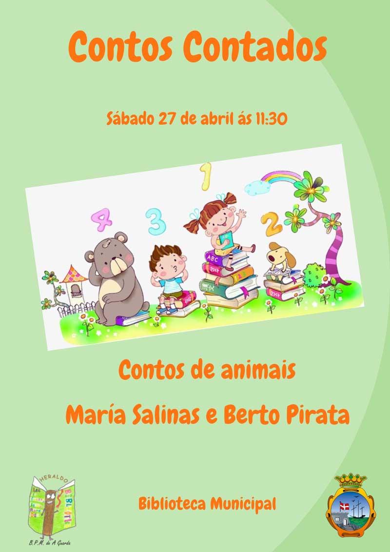 """A Biblioteca Pública Municipal da Guarda celebra o """"Día Internacional do Libro"""" que se celebrou o pasado 23 de abril, cunha sesión de Contos Contados este sábado día 27 de abril ás 11:30."""