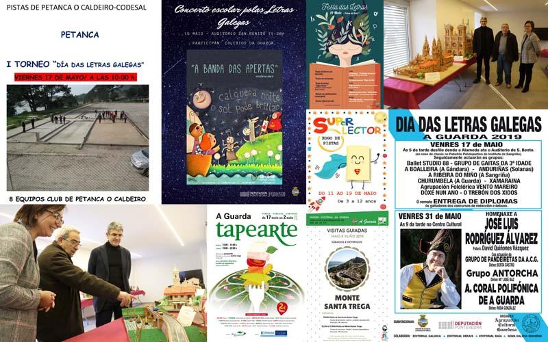 Fin de semana marcado pola celebración das Letras Galegas, o Día Internacional dos Museos na Guarda e o inicio da Ruta gastronómica Tapearte, con moitas actividades para pequenos e maiores.